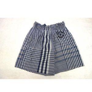 💙blue family💙 High Waist Plaid Fabric Shorts
